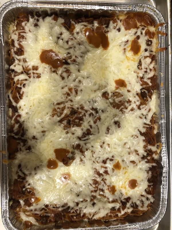 Aunt Verna's Pizza Casserole