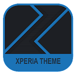 Xperia Theme - Dark Paper Blue Icon