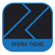 Xperia Theme - Dark Paper Blue APK