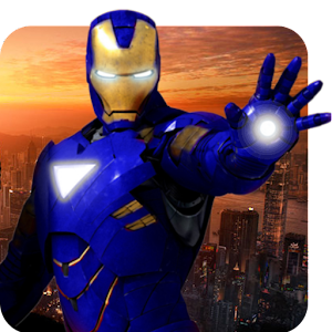 Grand Iron Superhero Flying Robot Rescue Mission for PC