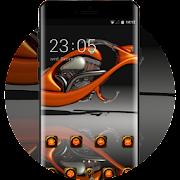 Tech theme wallpaper motorcycle orange stylish APK