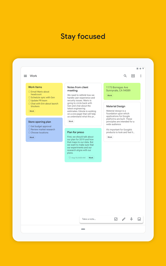 Google Keep - Notes and Lists- screenshot