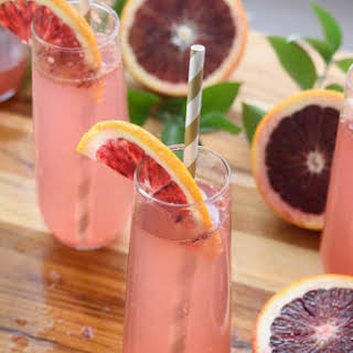 Blood Orange Champagne Cocktail.