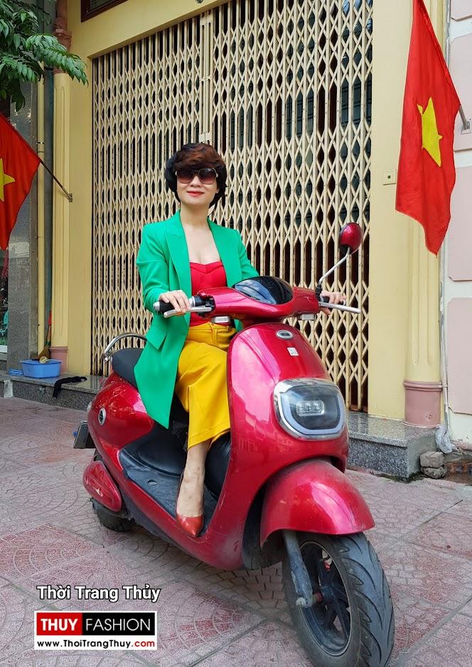 Áo vest nữ dáng suông mix quần culottes áo croptop V696 thời trang thủy huế