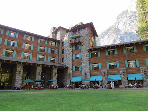 Photo: Our splurge was two nights and dinner in the Ahwahnee Lodge. Normally you have to reserve many months in advance, however we were on the waiting list and there were cancellations due to the fire.