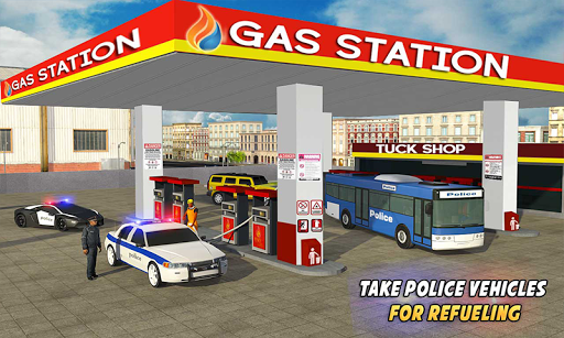 Police Car Wash Service: Gas Station Parking Games 1.2 screenshots 1