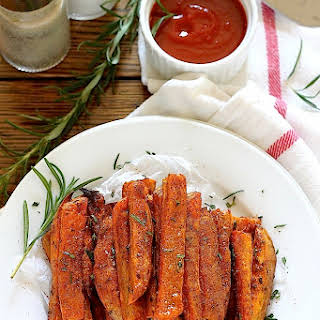 Extra Crispy Rosemary and Sea Salt Sweet Potato Fries.