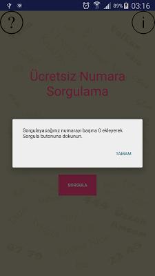 Ücretsiz Numara Sorgulama - screenshot