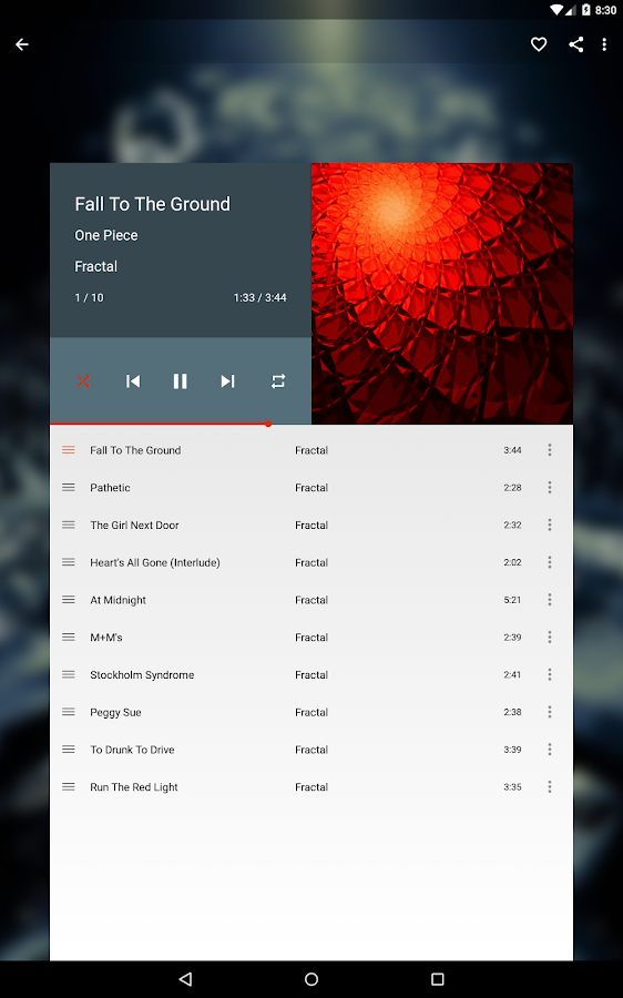 Shuttle Music Player - screenshot