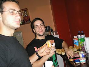 Photo: Urso e Del no Café literário