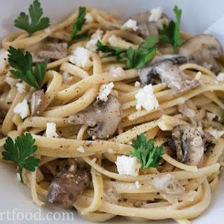 Creamy Blue Cheese and Mushroom Pasta Recipe