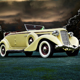 Auburn by JEFFREY LORBER - Transportation Automobiles ( jeffrey lorber, rust 'n chrome, vintage car, auburn, lorberphoto, 1936 )