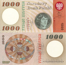 Photo: Nicolaus Copernicus, 1000 old Polish Zloty (1965). This note is now obsolete.