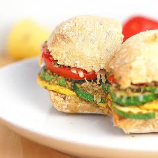 Parmesan Pesto Veggie Sandwich.