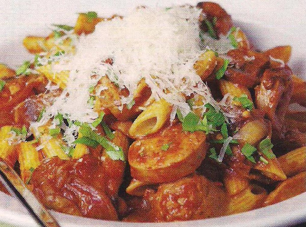 Penne With Mushrooms And Sausage Recipe