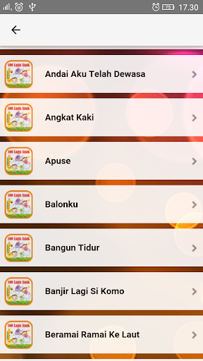 Lagu Anak Indonesia TK & PAUD  screenshots 2