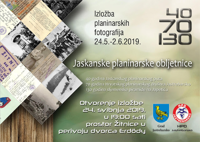 "Izložba ""Jaskanske planinarske obljetnice"" od 24. svibnja"