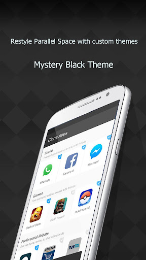 Download Mystery Black Theme for PS for PC