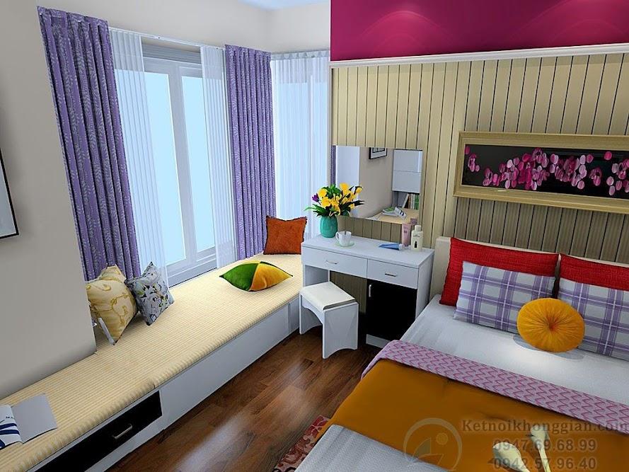 thiết kế phòng ngủ nữ tính