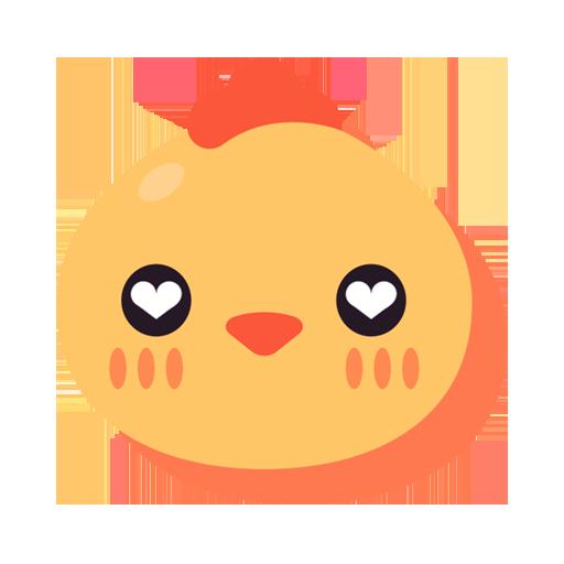 Cute Chick TouchPal Keyboard Sticker