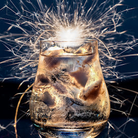 Water LIT by Adriaan Vlok - Abstract Fire & Fireworks ( ice water, glass water, fire water, ice, water )