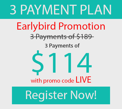 Earlybird 3 Payments of $114