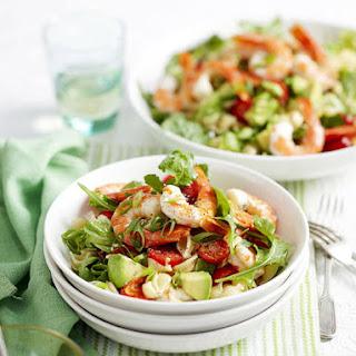 Shrimp and Tomato Pasta Salad.