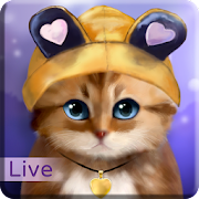 Toffee Cute Kitty Live Wallpaper