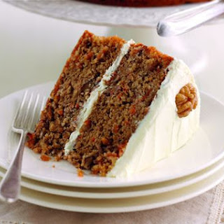 Mary Berry's carrot and walnut cake with cream cheese icing