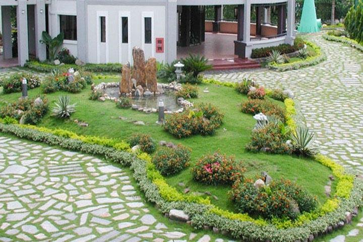 Thiết kế cảnh quan sân vườn giúp không gian sống trong lành