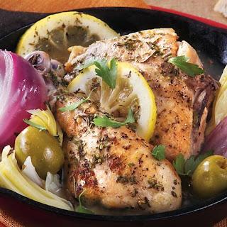 Slow-Cooker Mediterranean Braised Chicken.