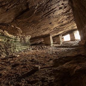 Inside the ancient mine by Grigoris Koulouriotis - Buildings & Architecture Public & Historical ( building, ancient, minor, architecture, stones, cave,  )