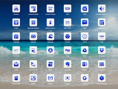 Azer Blue Icon Pack screenshot 11