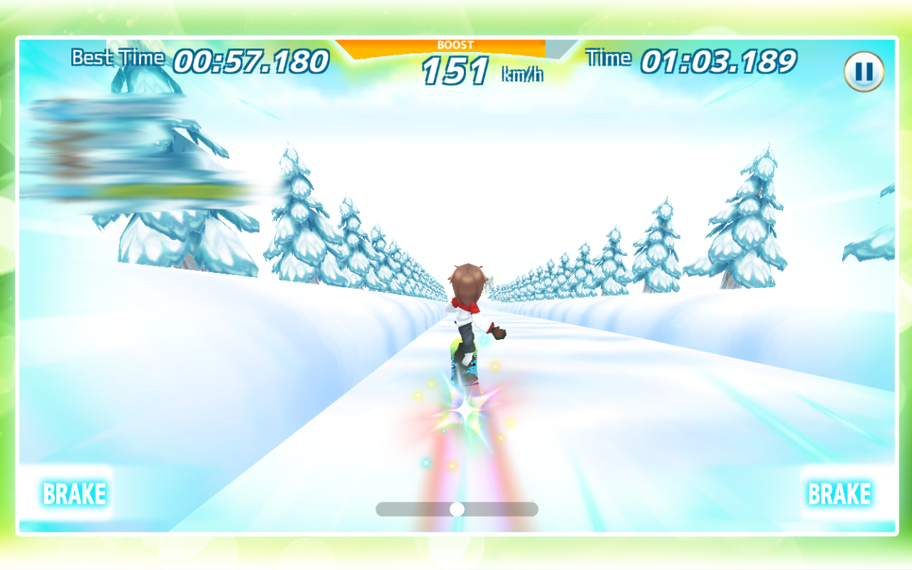 Snow Board Time Attack (FF)- screenshot