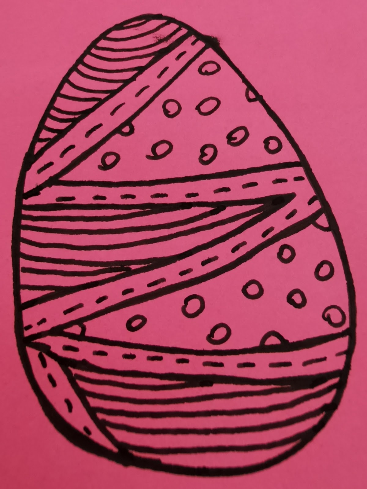 drawing of a cartoon easter egg