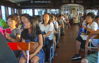 Photo: Passengers aboard Hong Kong Ferry