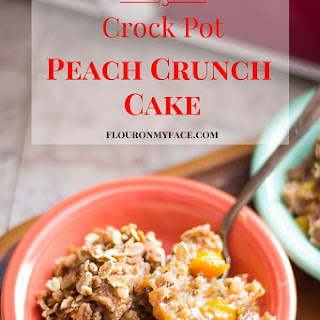 Crock Pot Peach Crunch Cake