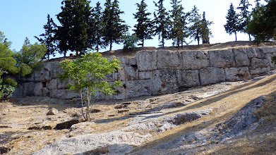 Photo: Retaining wall of the Pnyx