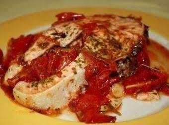 Salmon Con Pomodoro Fresco Recipe