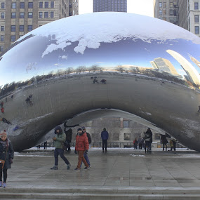 Millenium Park  by Bre Marie - City,  Street & Park  City Parks ( bean, reflections, chicago, photography )
