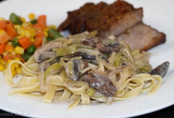 Low-fat Leek And Mushroom Sauce