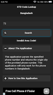 STD Code Lookup for Bangladesh- screenshot thumbnail