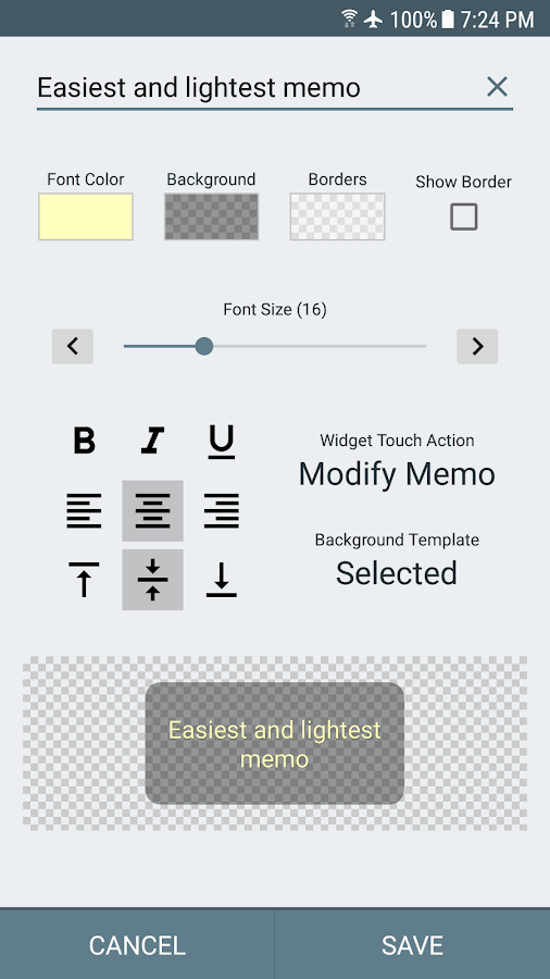Wongi Memo Widget- screenshot