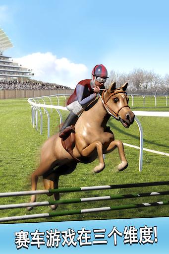 跑马骑马的运行免费 - 3D 跳跃 赛跑马赛车游戏