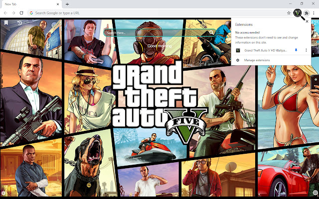 Grand Theft Auto V HD Wallpapers New Tab