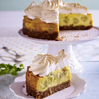 Gooseberry Meringue Cheesecake