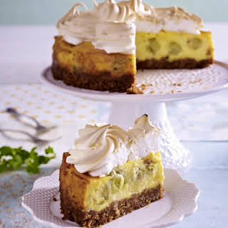 Gooseberry Meringue Cheesecake.