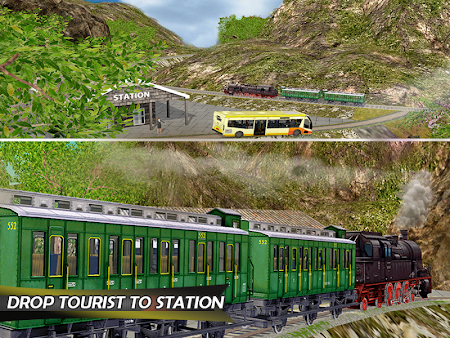 Tourist Train Hill Driving 1.1 screenshot 1660477