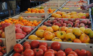 Photo: Tomatoes at Santa Monica Farmers Market.