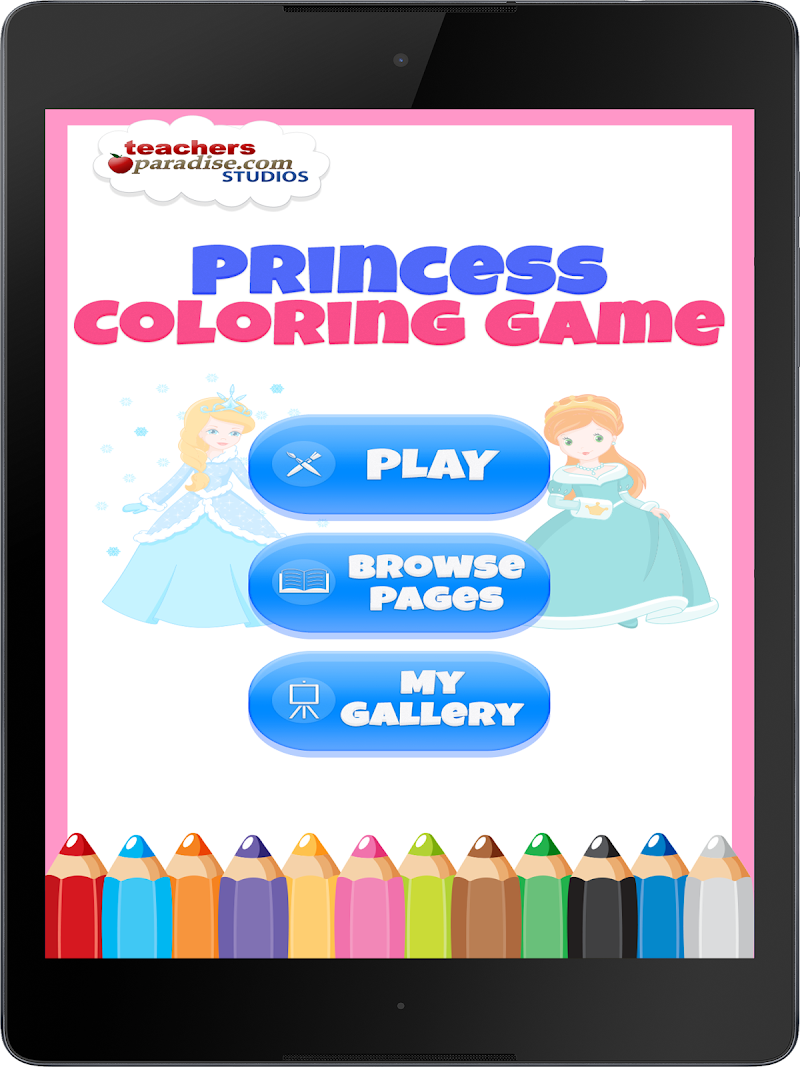 Скриншот Fairytale Princess Coloring Book for Girls